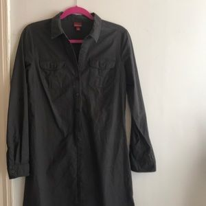 Merona Slate Grey Shirtwaist Dress